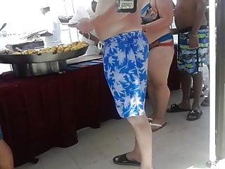 No no bikini line Cute bbw in bikini with big tits at the beach buffet line