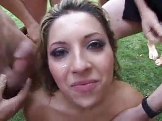 Cum outside Outside cum dump chick