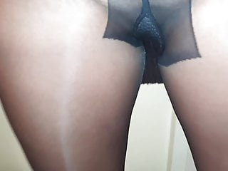 Casual sex day at work My piss wet smelly black pantyhose after a day at work