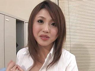 Asian massage feet - Cute slim asian girl massages cock with her feet