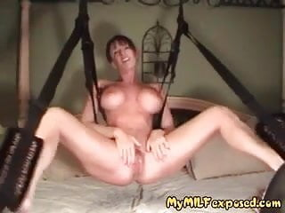 Swinging churn My milf exposed - busty milf on swing fucked hard