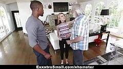 ExxtraSmall - Tiny Teen Alina West Sucks Huge Cock To Pay Debt