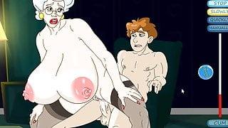 Lucky Boy Fucks Hot Granny Hardcore