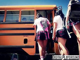 Handjob on a bus - Digitalplayground - jake jace natalie monroe - the school bu
