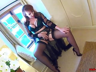 Xxx girl toys Redhead mature red xxx gets off with her toy