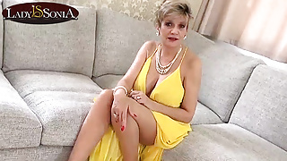 Lady Sonia wants to use her panties to jerk you off