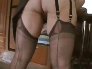 Ass nt highs Nice ass and corset playing with herself nt