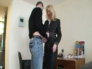 Mature k9 whore - Mature blonde whore with younger guy