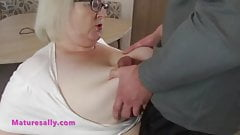 Lucky Burglar & Mature Sally