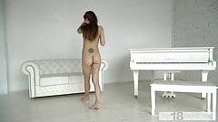 MY18TEENS - girl gracefully walks naked around the room