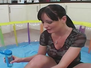Donna k kowalski sex Donna marie plays with lube and dildos