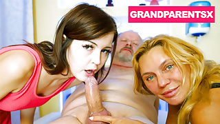 Granny and Grandpa Take their Step Granddaughter for a Ride
