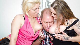 AMATEUR EURO - Adrienne Kiss & Oda Amelie Has Hot FFM Sex