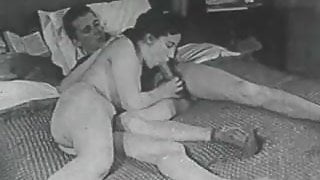 MILF Invites Spying Boy to Fuck Her (1950s Vintage)