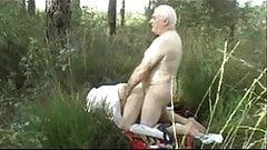 Older Couple Outside Sex-Wear-Tweed