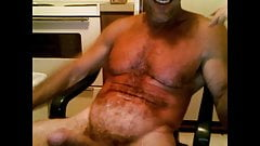 Muscledude Sitting Dicked, Stroking and Cum