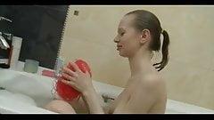 TEEN n25 petite slim blonde russian teen in her bath