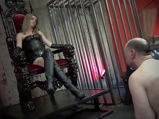 Boot lick video Boot licking