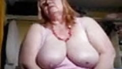 Fat Blonde Mature Masturbation Show