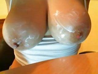 Medium tits nice nipples - Creamed tits with nice nipples