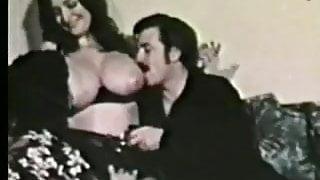cute busty in threesome - circa 1970