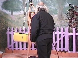 Hot lesbians with massive perky tits - Hot brunette slut with perky tits gets restrained by her older bdsm master