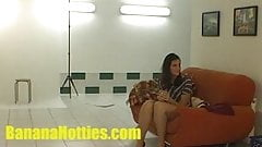 Czech student fucks in doggie style at casting