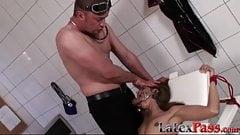 Submissive latina babe fucked hard in doctors office