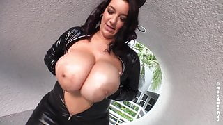 Subrina Lucia Oils Her Monster Tits