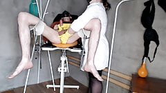 Nurse handjob and massages the patient's prostate