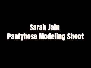 Ebony pantyhose photos - Bts of sarah jain pantyhose photo shoot
