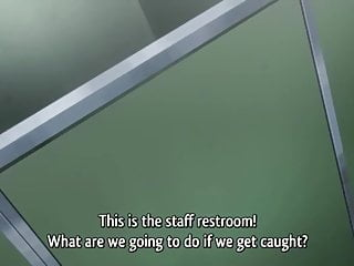 Dojins free hentai uncensored Quick sex in a public restroom - hentai uncensored