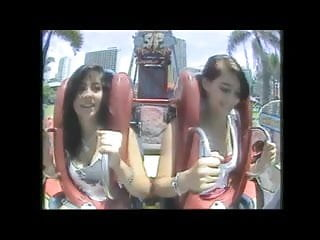 Meigs boobs tits thong Oops big boobs tits in roller coasters compilation