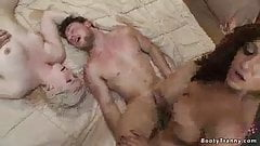 Threesomw - trany fuck guy - guy fuck girl
