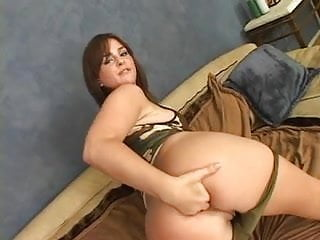 Stabbing pain under right breast Young brunette fuck slut suffers anal stabbing by black man on the couch