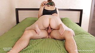 Teen stepsister big ass thighjob pantyhose - cum feet
