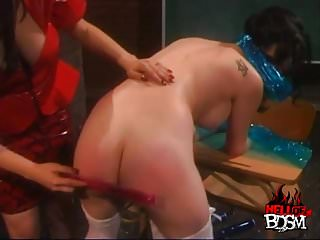 Erotic shrinking - Shrink wrap, tied and spanked
