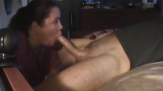 Sucking big cock with cum in my mouth