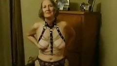 Slave granny gags and fucks