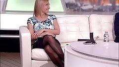 Long legged tv host in black pantyhose and heels 11