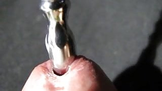 Urethra bougie out close-up slow motion
