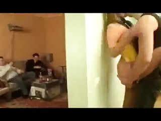 In russian stocking teen Home party - quickie