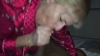 Granny sucks and fucks black cock