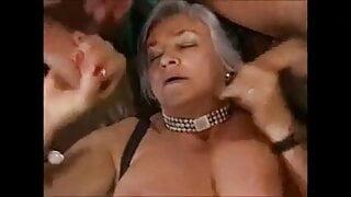 Clitorissa's high grade foursome with DP and cum