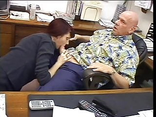 Boob job louisville - Redhead gives blowjob and boob job to old guy in office