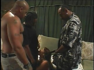 Group of men with flacid penises - Slut gets fucked by a group of men
