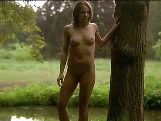 Sexy models posing in panties - Cute skinny model posing in the forest