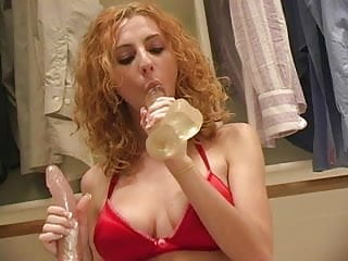 Borderline closeted gay Sexy redhead playing in the closet