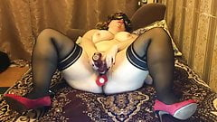 Wife plays with sex toys 2