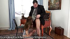 GrandpasFuckTeens Old Cock Sucked by Young Romanian